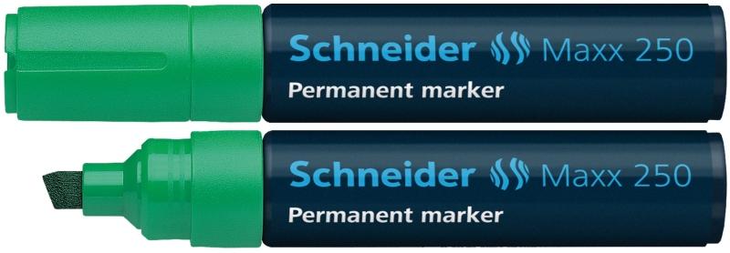 Permanent Marker Schneider Maxx 250  Varf Tesit 2+7mm - Verde