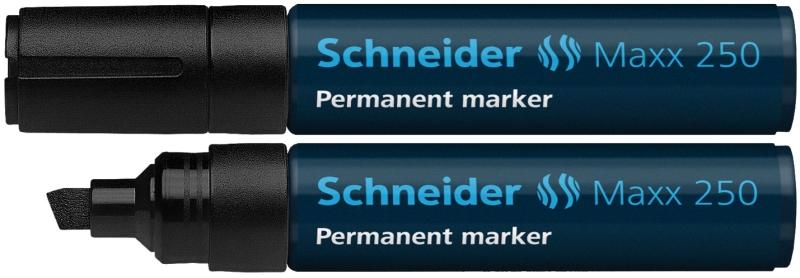 Permanent Marker Schneider Maxx 250  Varf Tesit 2+7mm - Negru