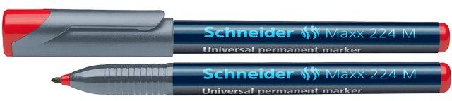 Universal Permanent Marker Schneider Maxx 224 M  Varf 1mm - Rosu