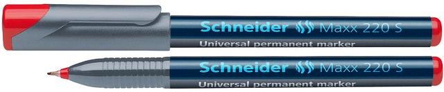 Universal Permanent Marker Schneider Maxx 220 S  Varf 0.4mm - Rosu