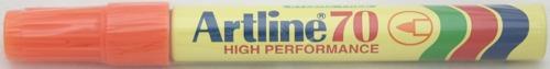 Permanent Marker Artline 70  Corp Metalic  Varf Rotund 1.5mm - Portocaliu