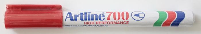 Permanent Marker Artline 700  Corp Metalic  Varf Rotund 0.7mm - Rosu