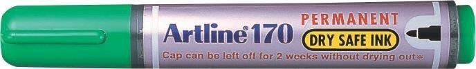 Permanent Marker Artline 170 - Dry Safe Ink  Corp Plastic  Varf Rotund 2.0mm - Verde