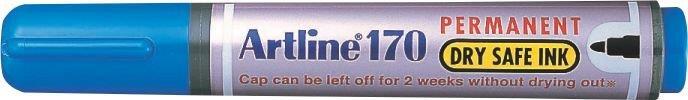 Permanent Marker Artline 170 - Dry Safe Ink  Corp Plastic  Varf Rotund 2.0mm - Albastru