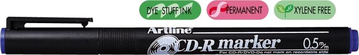 Cd/dvd-marker Artline 884  Corp Plastic  Varf Rotund 1.0mm - Albastru