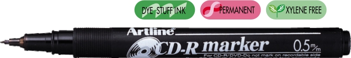 Cd/dvd-marker Artline 884  Corp Plastic  Varf Rotund 1.0mm - Negru