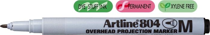 Ohp Non-permanent Marker Artline 804  Varf Mediu - 1.0mm - Negru