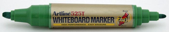 Marker Pentru Tabla De Scris Artline 525t  Doua Capete - Varf Rotund 2.0mm/tesit 5.0mm - Verde