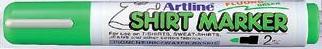 T-shirt Marker Artline  Corp Plastic  Varf Rotund 2.0mm - Verde Fluorescent