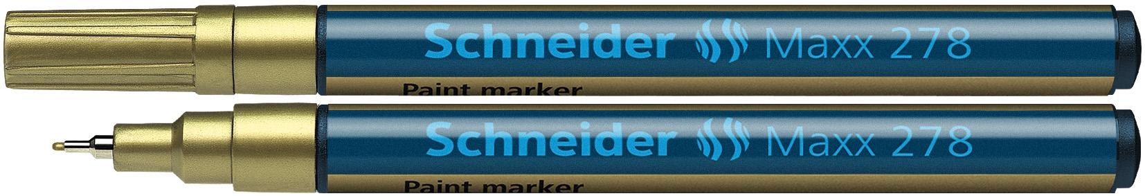 Marker Cu Vopsea Schneider Maxx 278  Varf Rotund 0.8mm - Auriu