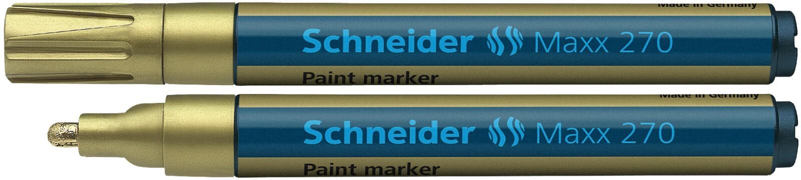 Marker Cu Vopsea Schneider Maxx 270  Varf Rotund 1-3mm - Auriu