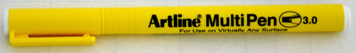 Marker Universal Artline Multi Pen  Varf Tesit 3.0mm - Alb