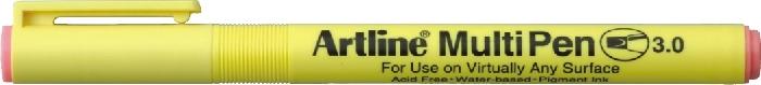 Marker Universal Artline Multi Pen  Varf Tesit 3.0mm - Roz Pastel