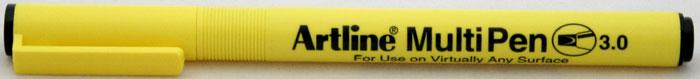 Marker Universal Artline Multi Pen  Varf Tesit 3.0mm - Negru