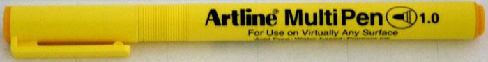 Marker Universal Artline Multi Pen  Varf Rotund 1.0mm - Galben
