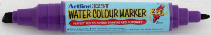 Watercolor Marker Artline 325t  Doua Capete - Varf Rotund 2.0mm/tesit 5.0mm - Violet