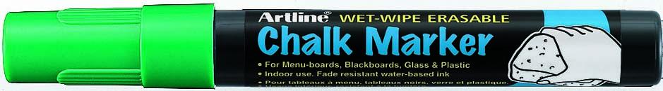 Marker Cu Creta Artline  Pentru Table De Scris  Varf 12.0mm - Verde