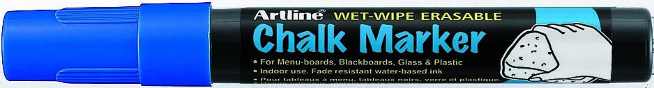 Marker Cu Creta Artline  Pentru Table De Scris  Varf 12.0mm - Albastru