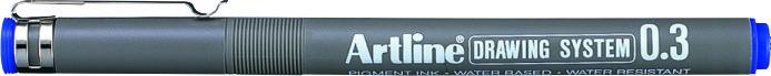 Marker Pentru Desen Tehnic Artline  Varf Fetru 0.3mm - Albastru