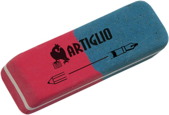 Radiera Cauciuc Pentru Creion/cerneala  40/cut  Artiglio - Rosu/albastru