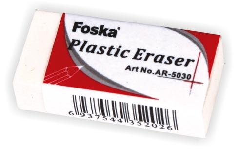 Radiera Alba Din Plastic  37 X 17 X 10mm  Foska