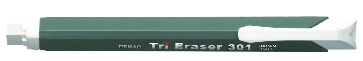 Radiera Mecanica Penac Tri Eraser  Triunghiulara  100% Cauciuc - Corp Gri