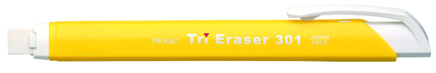 Radiera Mecanica Penac Tri Eraser  Triunghiulara  100% Cauciuc - Corp Galben