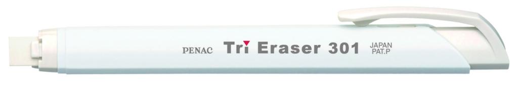 Radiera Mecanica Penac Tri Eraser  Triunghiulara  100% Cauciuc - Corp Alb