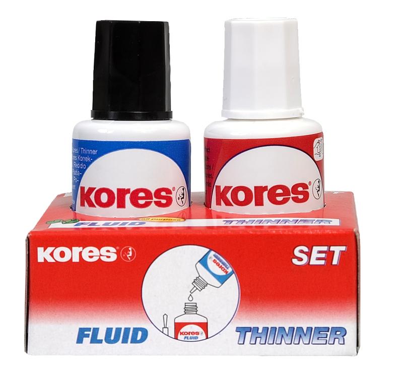 Fluid Corector + Solvent (2 * 20ml)   Kores