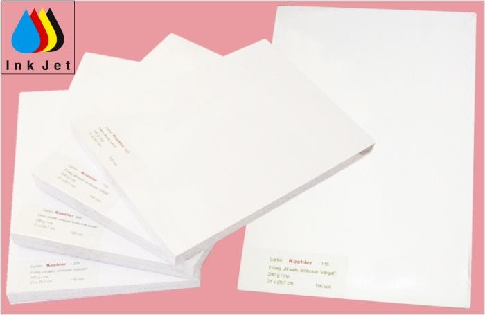 Carton Satinat (splendorgel Ew) alb  A4  190g/mp 125 Coli/top