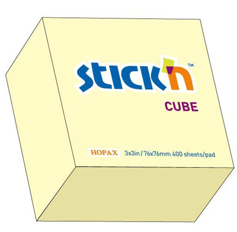 Cub Notes Autoadeziv 76 X 76 Mm  400 File  Stickn - Galben Pastel