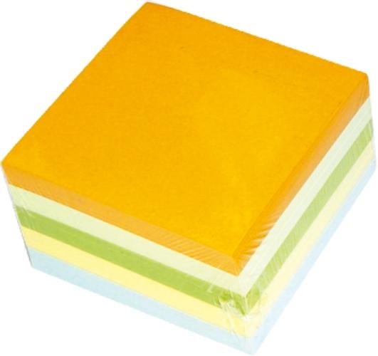Rezerva Cub Hartie Color 9x9x7cm  500 Coli/cub