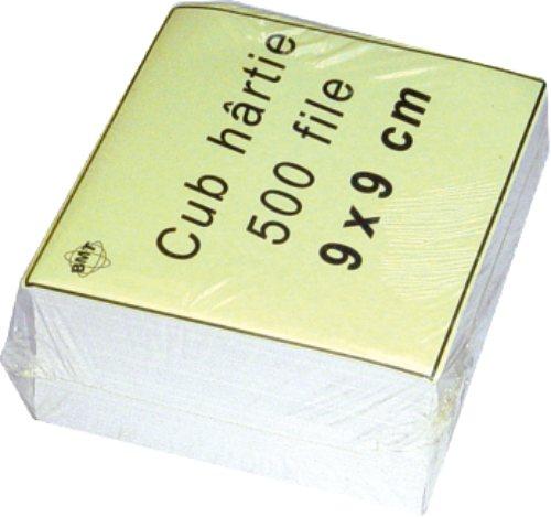 Rezerva Cub Hartie Alb 9x9x7cm  500 Coli/cub