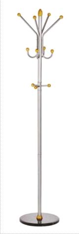Cuier Metalic Argintiu Cu Accesorii Din Lemn  185/40cm  Alco