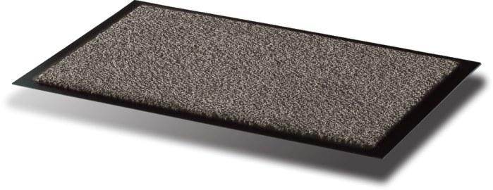 Covoras Intrare  Pentru Praf  Polipropilena/vinil  90 X 120cm  Floortex - Alb/negru