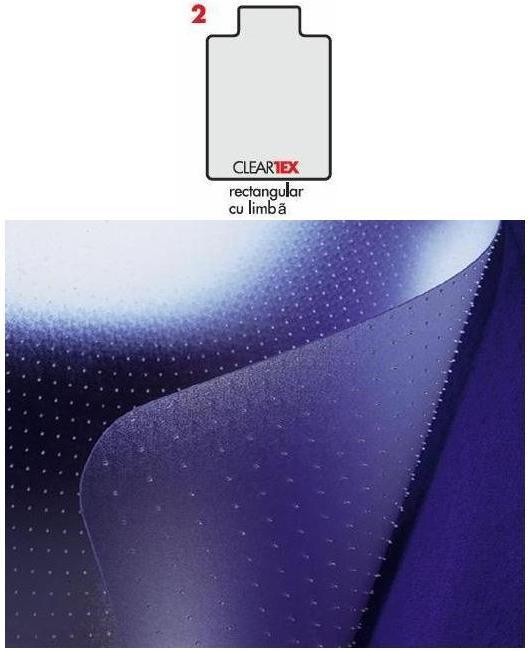 Covoras Pvc Transparent  Protectie Parchet/gresie  121cm X 92cm - Cu Limba  Floortex