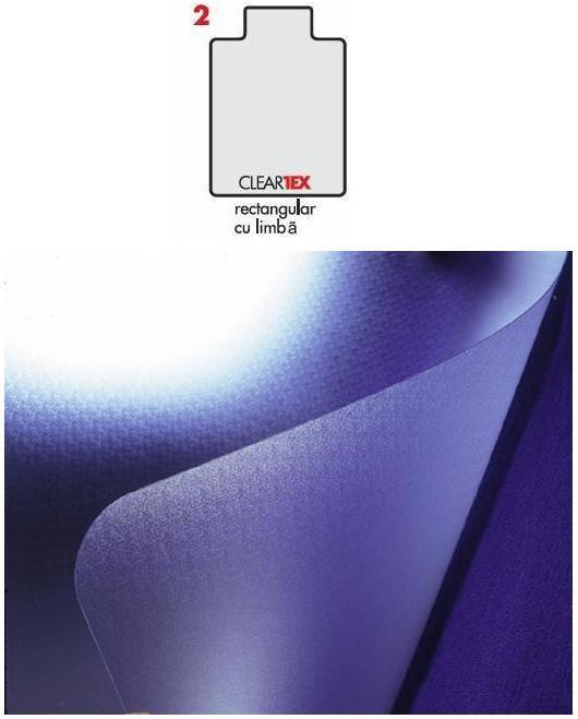 Covoras Pvc Transparent  Protectie Mocheta  121cm X 92cm - Cu Limba  Floortex