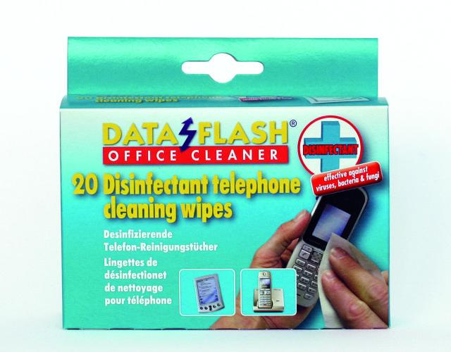 Servetele Umede Dezinfectante Pentru Curatare Telefon Mobil  20/cutie  Data Flash