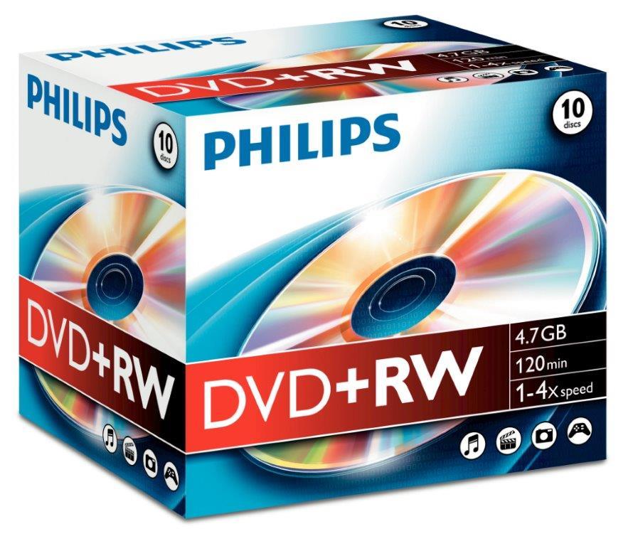 Dvd+rw 4.7gb Jewelcase  4x  Philips