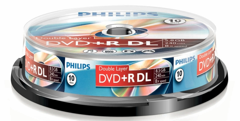 Dvd+r 8.5gb Double Layer (10 Buc. Spindle  8x) Philips