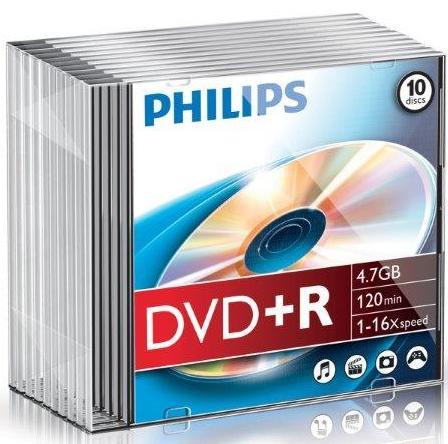 Dvd+r 4.7gb Slimcase  16x  Philips