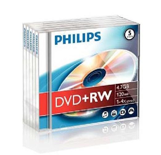 Dvd-rw 4.7gb Jewelcase  4x  Philips