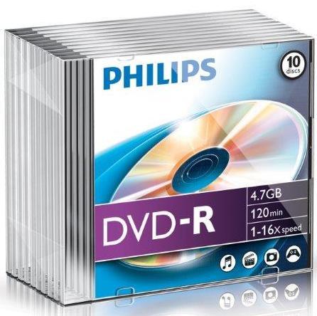 Dvd-r 4.7gb Slimcase  16x  Philips