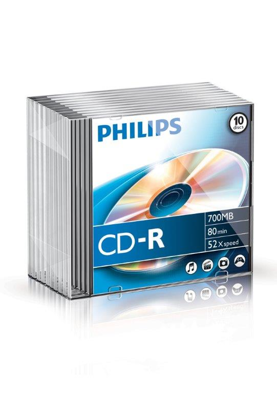 Cd-r 700mb-80min Slimcase  52x  Philips