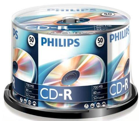 Cd-r 700mb-80min ( 50 Buc. Spindle  52x) Philips