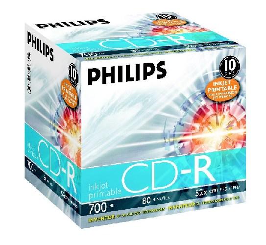 Cd-r 700mb-80min Jewelcase  52x  Printabil  Philips