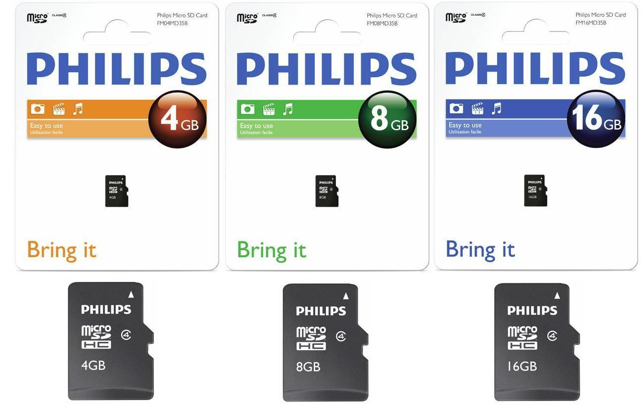 Card Memorie Micro Sdhc  Cu Adaptor Sd  Clasa 4  Philips - 32gb
