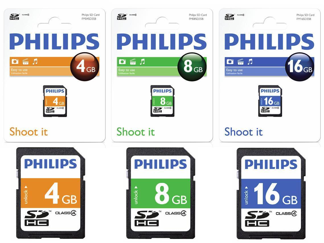 Card Memorie Sdhc  Clasa 4  Philips - 4gb