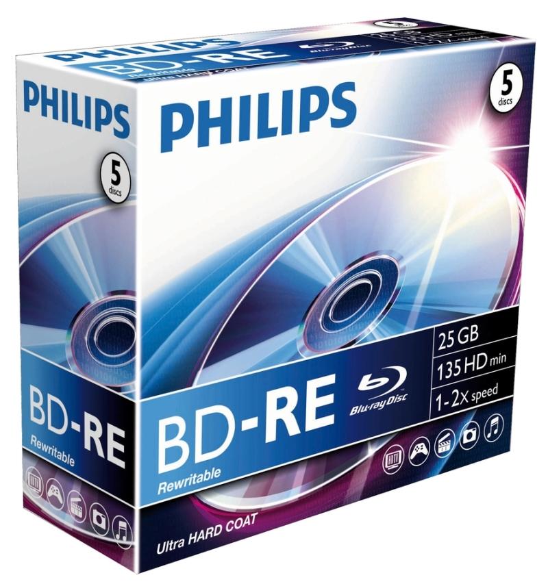 Blu-ray Disk Rewritable  25gb  2x  Jewelcase  Philips