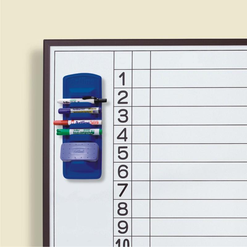Suport Magnetic Artline  Pentru 4 Markere + Burete  Pentru Table Magnetice